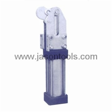 Pneumatic heavy duty toggle-lock clamps